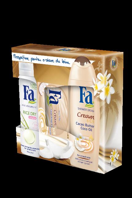 Trusa-Cadou FA Cream and Oil Cacao Butter cu Coco Oil