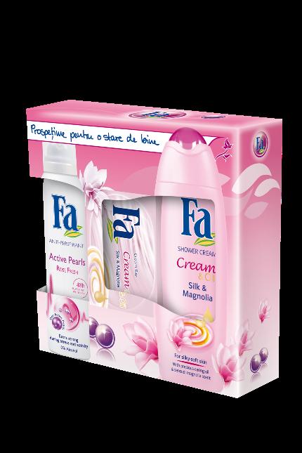 Trusa-Cadou FA Cream si Oil Silk cu Magnolia