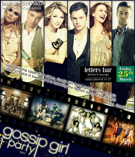 Gossip Girl Party - Letters Bar