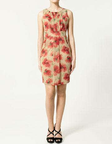 rochie florala zara