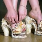 Weird fashion: pantofi din branza