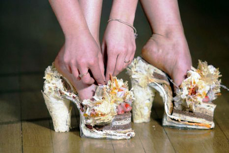 Weird fashion pantofi din branza