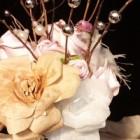 Aranjament floral din hartie la nunta