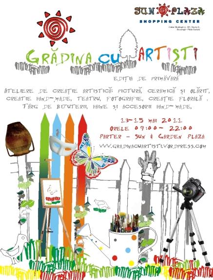 ilustratie Gradina cu Artisti