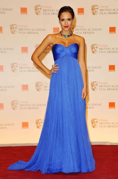 jessica alba rochia turcoaz