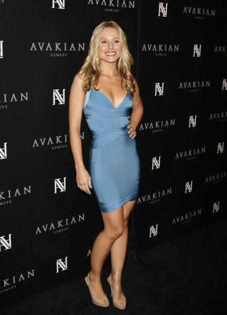 kristin bell rochia bleu mulata