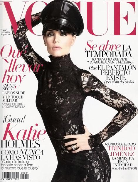 Katie Holmes pe coperta Vogue Spania August 2011