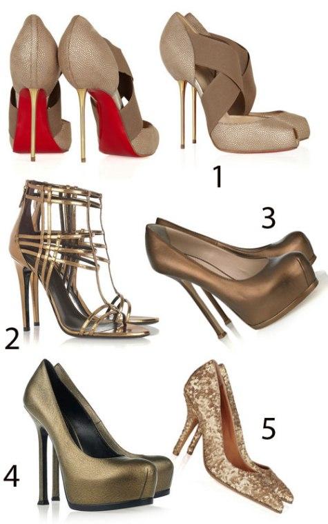 poze cu modele de pantofi metalici