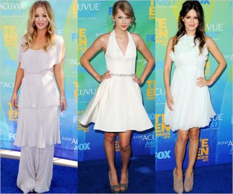 Kaley Cuoco, Taylor Swift si Rachel Bilson pe covorul rosu