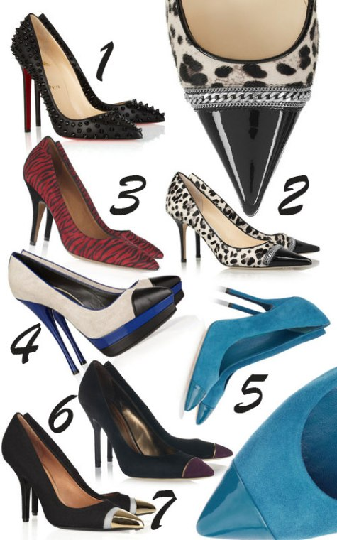 galerie pantofi cu bot ascutit