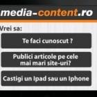Castiga un Ipad sau un Iphone cu Media-content
