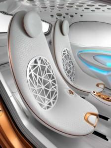 interiorul masinii Smart ForVision