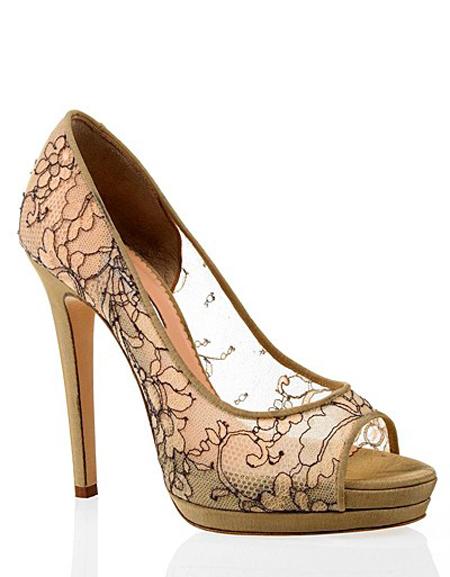 pantofi dantela