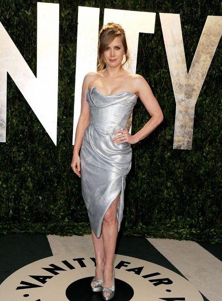 Amy Adams in o rochie argintie de la Vivienne Westwood