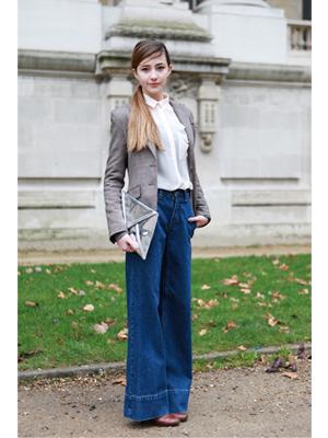 jeansi, evazati, camasa