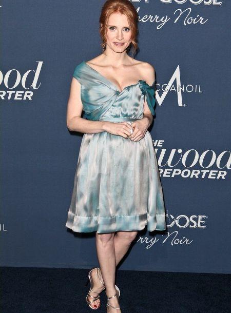 Jessica Chastain a purtat o rochie de la Vivienne Westwood