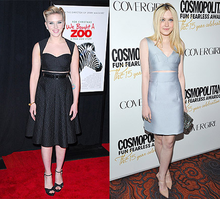 Scarlett Johansson si Dakota Fanning au ales tinute asemanatoare