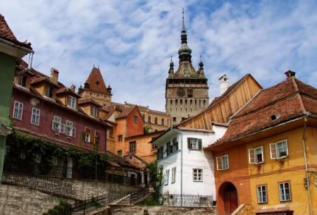 turnul cu ceas, cetate medievala, oras monument