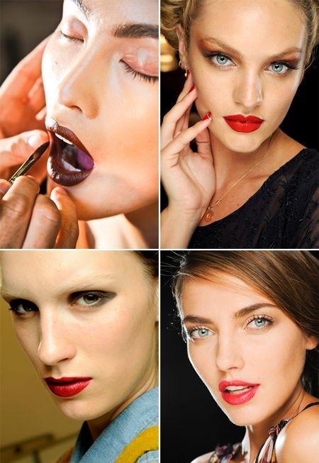 ruj, pudra bronzanta, eyeliner negru, subtil, si un rimel de alungire, pentru un efect retro, elegant