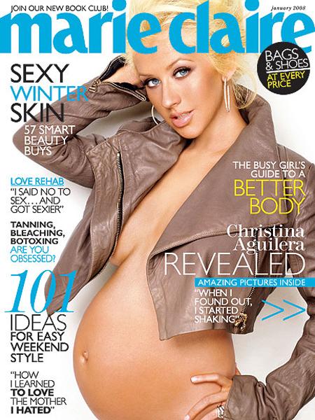 a aparut goala in ianuarie 2008, pe coperta revistei Marie Claire