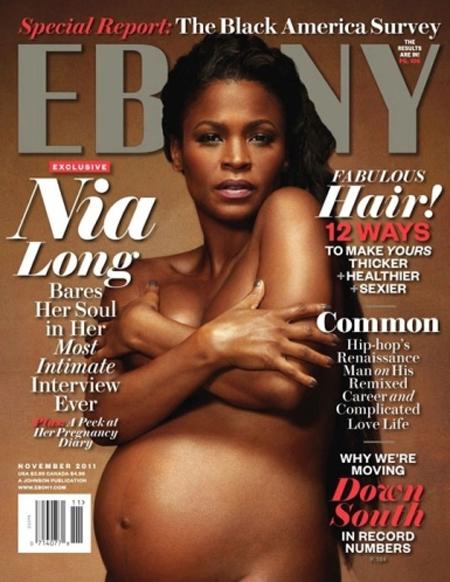 a aparut complet goala pe coperta revistei Ebony, in mai 2010