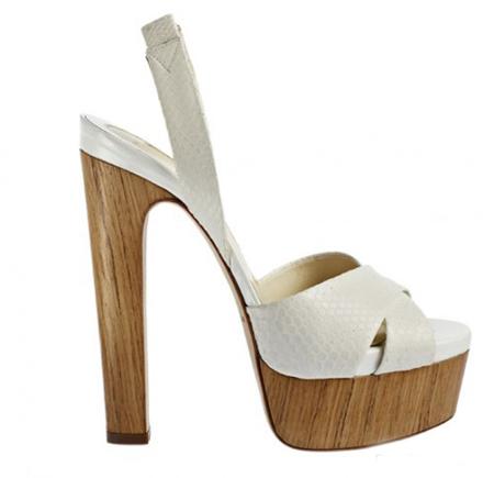 sandale din piele alba