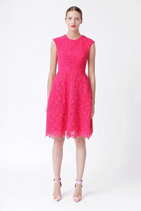 Rochie midi hot pink