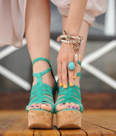 sandale neon