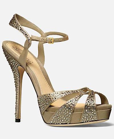Sandale din satin