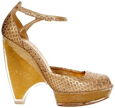 Pantofi din piele de sarpe