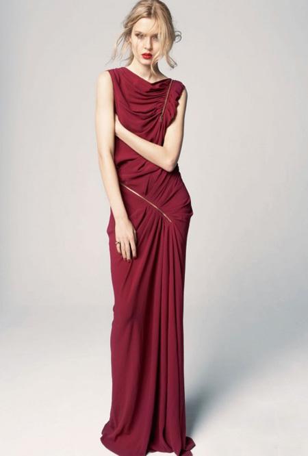 rochie asimetrica