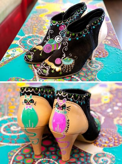 pantofi pictati