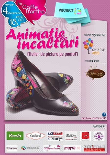 animatie pe pantofi