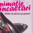 Animatie pe incaltari la Proiect13 – Atelier de pictura pe pantofi