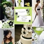 Culori de nunta: accente verzi