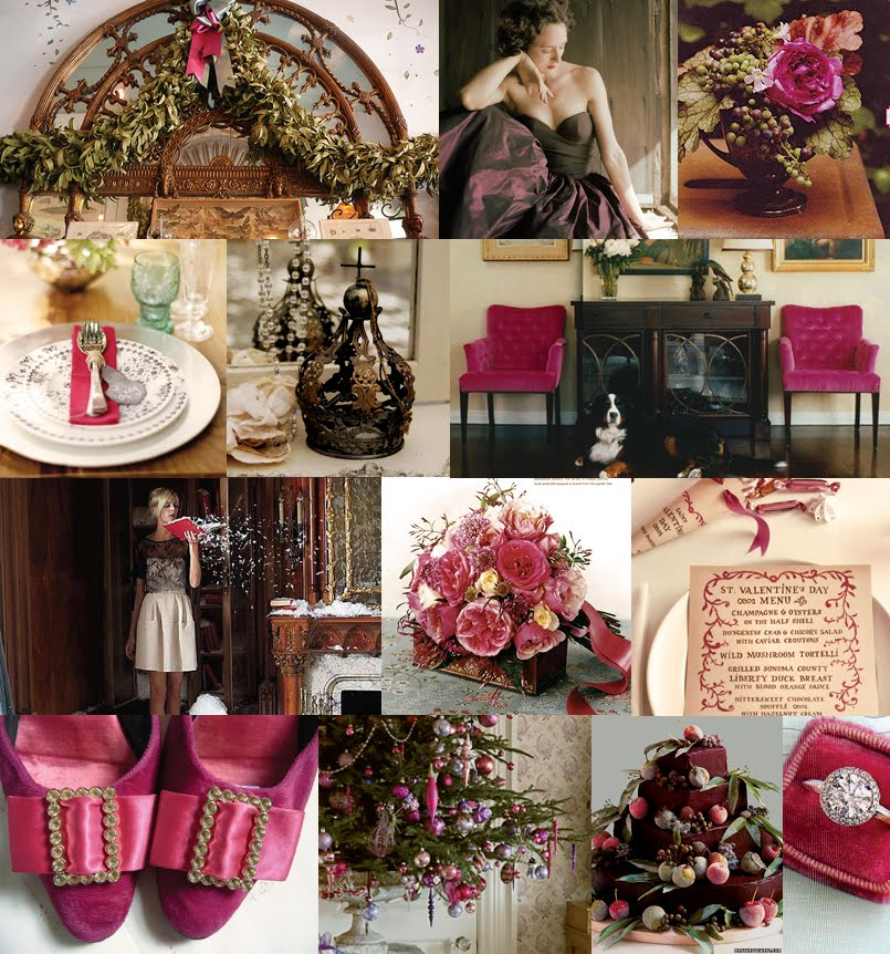 447-luxurious-holiday-wedding-ideas-fuschia-and-bronze-christmas-color-palette