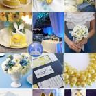 Culori de nunta: albastru si galben